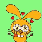 Yellow bunny feeling madly in love by Zoo-co