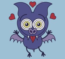 Purple bat feeling madly in love Kids Clothes