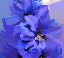 abstract of Delphinium abstracted to death by hilarydougill