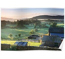 Dawn over the Valley, Cumbria Poster