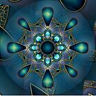Blue Mandala 2 by Thanya