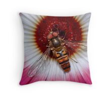 Basking Hoverfly Throw Pillow