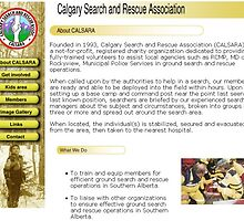Calgary Search and Rescue Association website by Todd Weidman