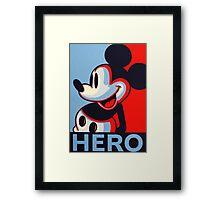 Mickey Mouse Hero Framed Print