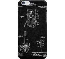 Magic - 1916 Knife Trowing Illusion Patent iPhone Case/Skin