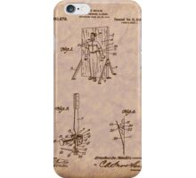 Magician - 1916 Knife Trowing Illusion Patent iPhone Case/Skin