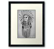 Native American Spirit Princess Framed Print