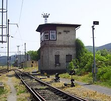 Signal box at Zdice  Cz. by John  Smith