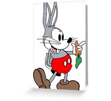 Mickey Mouse Bugs Bunny Greeting Card