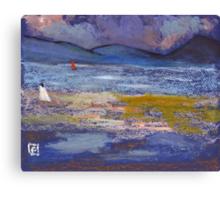 Woman on a beach Canvas Print