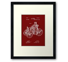 Fire Department - 1896 Tarr Steam Fire Engine Patent Framed Print