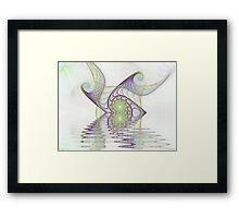 Misty Lake Gnarl  (UF0238) Framed Print
