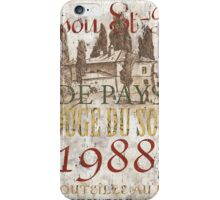 Bordeaux Blanc 1 iPhone Case/Skin