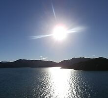 Sun on the water by Caterwall