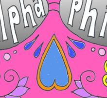 Alpha Phi Pink Skull Sticker