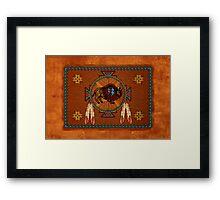 Buffalo Leather Framed Print
