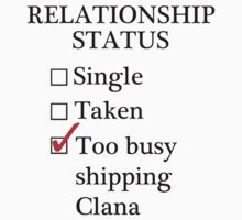 Relationship Status - Too Busy Shipping Clana by A-Starry-Night