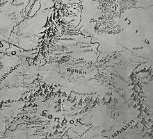 Middle Earth Map by middleishearth