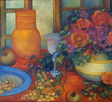 still life with roses by elisabetta trevisan