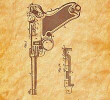 1904 Luger Pistol Firearm Patent - Gun - Automatic  by Barry  Jones