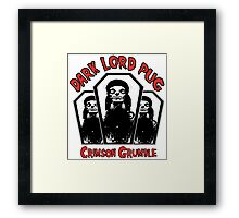 dark lord pug crimson coffin Framed Print