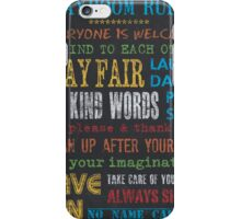 Playroom Rules iPhone Case/Skin