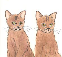 twin kittens by artworkbySARA