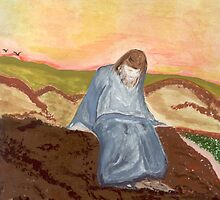Jesus in prayer by Anne Gitto