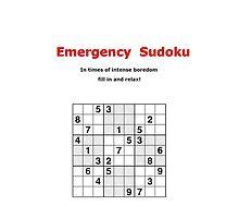 Emergency Sudoku by Alexander Grieve