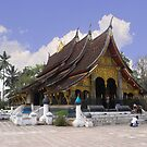Temple in Laos by Nith