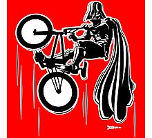 Darth Vader shredding on his BMX Photographic Print