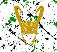 Loki paint splatter by notoddbutood