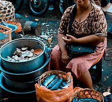 Market Lady - Denpasar, Bali by Stephen Permezel