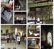 printmaking workshop with Jet James....Three Churches, Emu Park by Maria Catalina Wiley