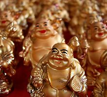 Laughing Buddhas by Caroline Fournier