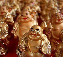 Laughing Buddhas by Caroline Fournier