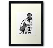 DIAW -NEW- STENCIL DESIGN Framed Print