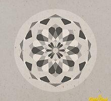 Grey Geometric Mandala by goldsoul