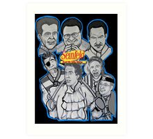 Seinfeld and his jolly mates Art Print