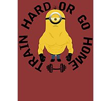 Minion Muscle Train Hard Gym Photographic Print