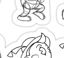 Cartoon Character Step by Step Sticker
