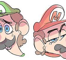 Mario Bros by captain-brookee
