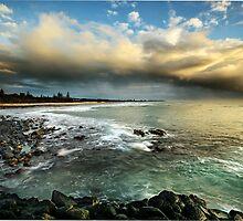 Storm over Fingle Beach by Annette Blattman