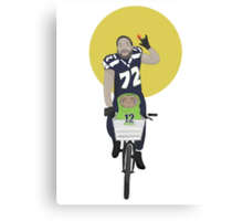 Michael Bennett Does Victory Lap With ET Canvas Print