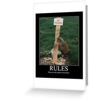 RULES Greeting Card