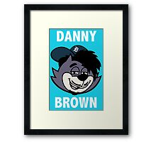 "Danny Brown ""Pitchfork Frame's Cat""  Framed Print"