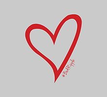 #BeARipple Original Heart Red & Grey by BeARipple