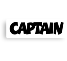 CAPTAIN Canvas Print