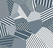 Finite resistance #83 - Voronoi Stripes by EsqueDesign