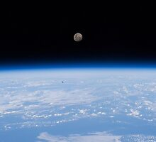 Above The Earth - The moon as seen from the International Space Station - Iss #iss by verypeculiar